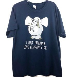 Tops - T-SHIRT FOR ELEPHANT LOVERS EVERYWHERE! XL